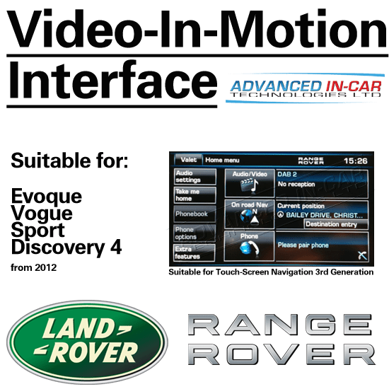 Range Rover Video-In-Motion