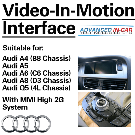 Audi MMI 2G Video-In-Motion