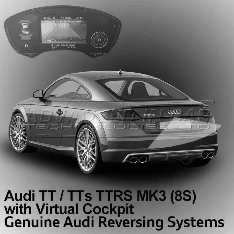 audi tt mk3 8s reversing camera retrofit advanced in car. Black Bedroom Furniture Sets. Home Design Ideas