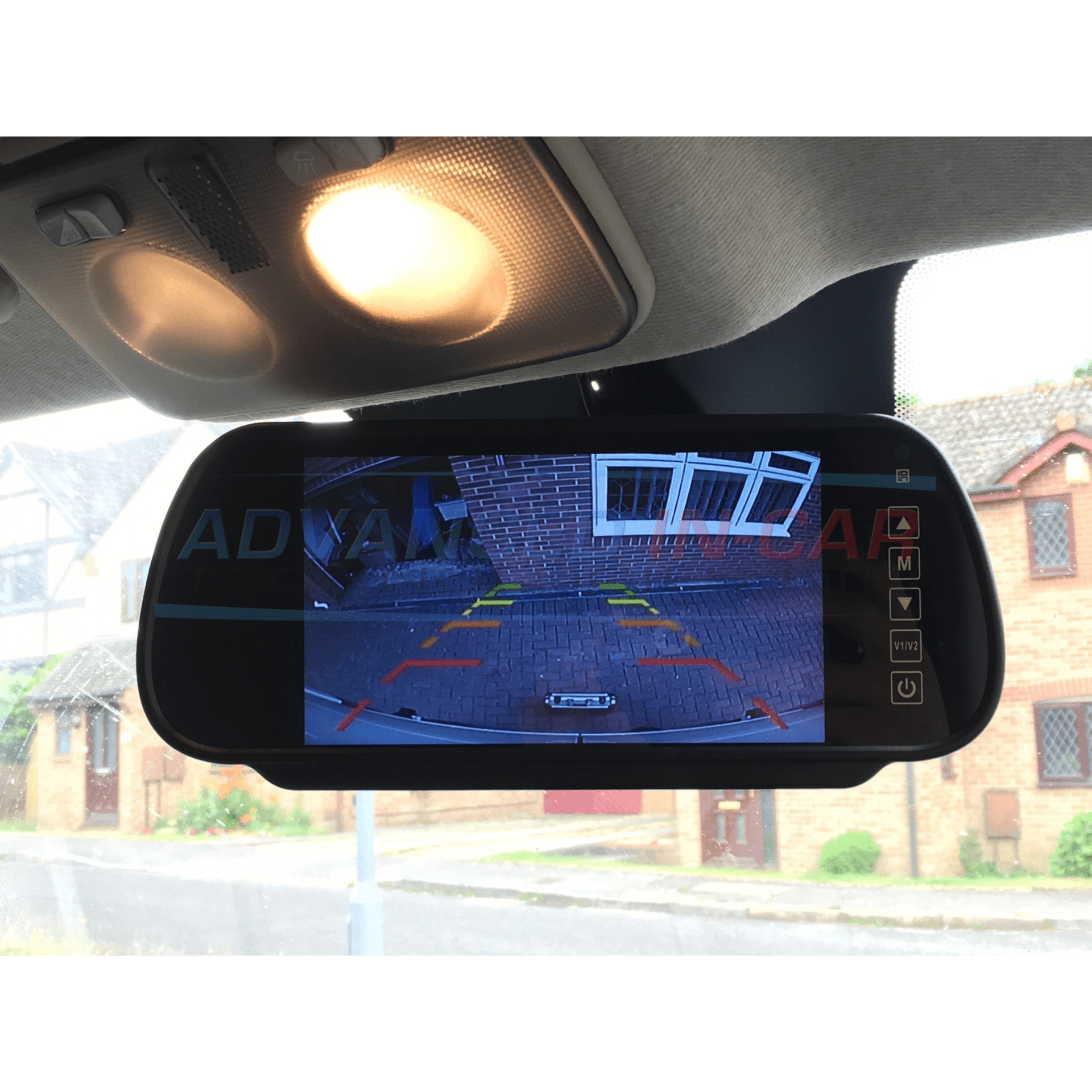universal rear view mirror reversing camera monitor. Black Bedroom Furniture Sets. Home Design Ideas