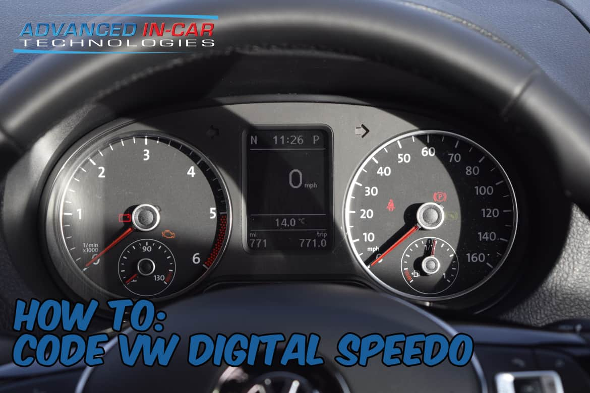 VCDS How To - Activate Big Digital Speedo On MFD / DIS – MPH