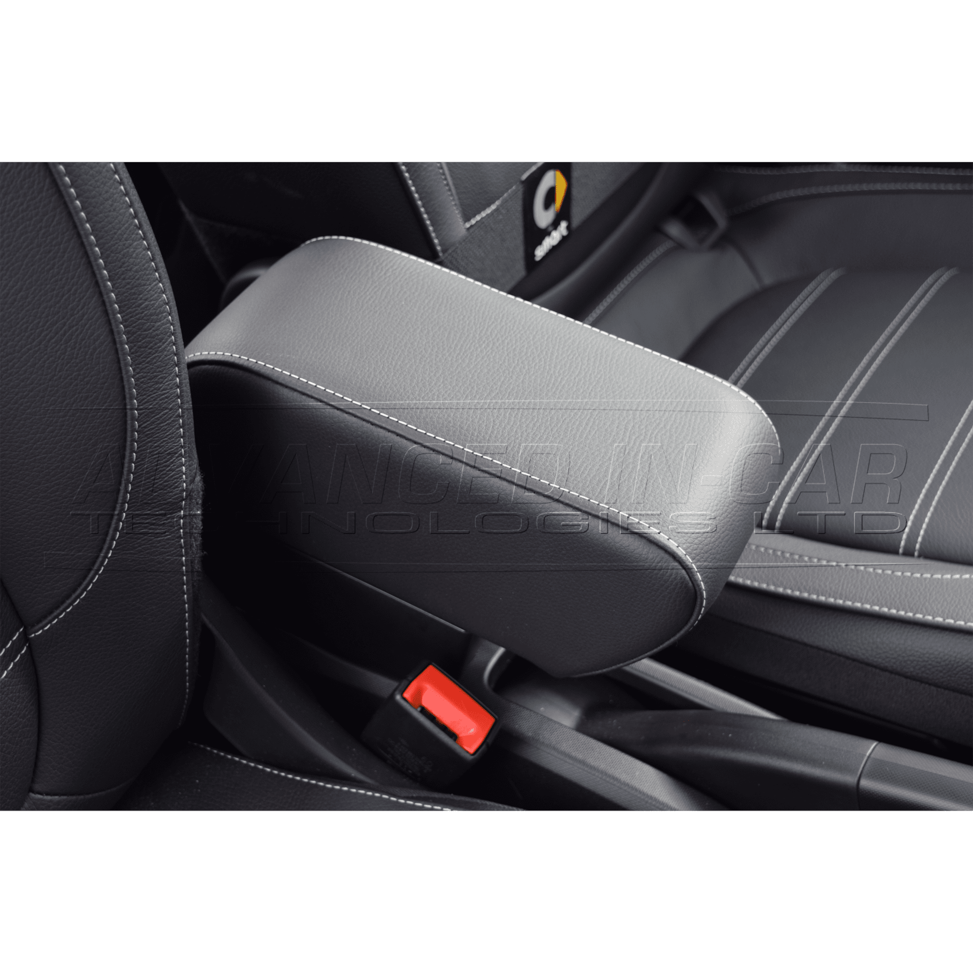 Smart 453 Leather Armrest - White Stitch - Advanced In-Car ...