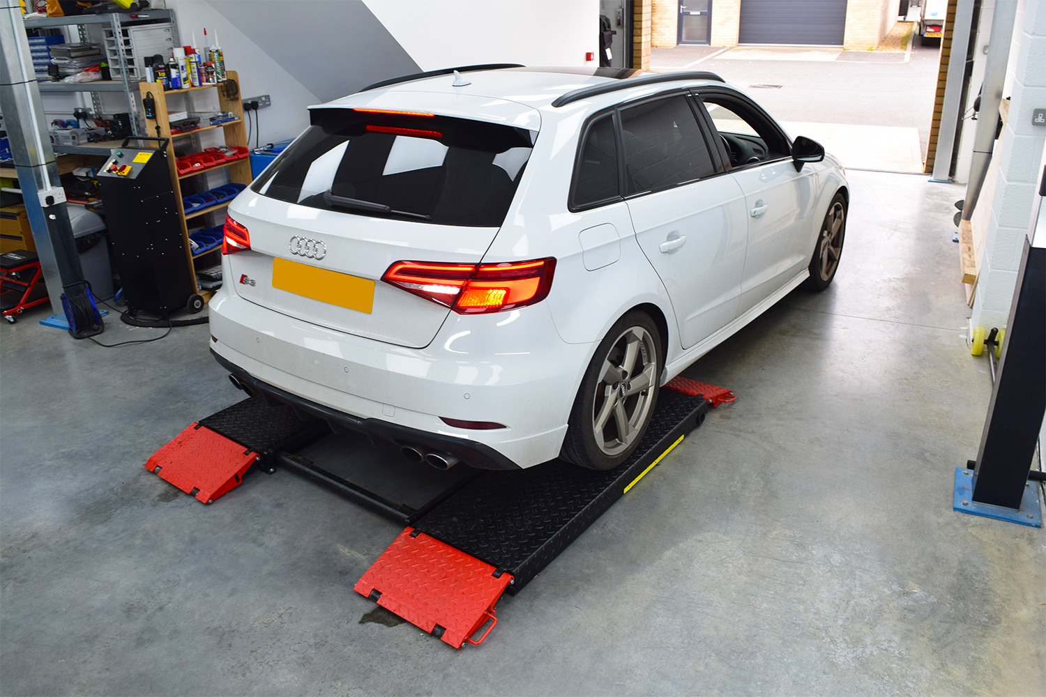 Audi S3 Drives on to AICT Ramp
